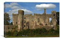 Laugharne Castle, Canvas Print