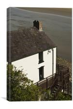The Boathouse at Laugharne, Canvas Print