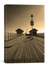 Penarth Pier in Sepia, Canvas Print