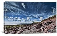 Manorbier Beach Pembrokeshire, Canvas Print