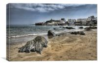 Tenby Harbour from North Beach, Canvas Print