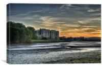 Carew Castle Pembrokeshire Sunset, Canvas Print