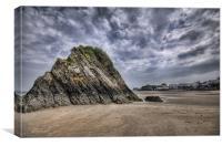 Goscar Rock Tenby Pembrokeshire 2, Canvas Print
