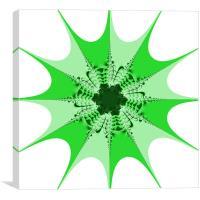 Mesem Fractal Green, Canvas Print