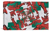 The Welsh Dragon Abstract, Canvas Print