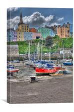 Tenby Harbour 4, Canvas Print