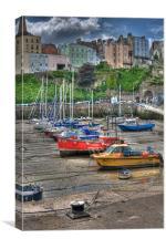 Tenby Harbour 5, Canvas Print