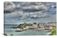 Tenby Harbour 2 Painterly, Canvas Print
