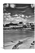 Tenby Harbour 5 Mono, Canvas Print