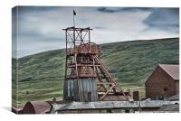 Big Pit Colliery Blaenavon, Canvas Print