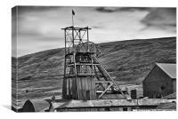 Big Pit Colliery Monochrome, Canvas Print