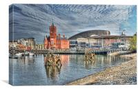 Cardiff Bay Textured, Canvas Print