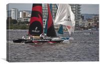 Extreme 40 Catamaran Racing 2, Canvas Print