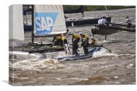 Extreme 40 Catamaran Racing 6, Canvas Print