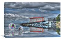 Lifeboat House and Cones, Canvas Print