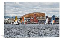 Extreme 40 At Cardiff Bay, Canvas Print