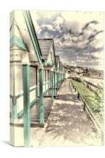Langland Bay Beach Huts 2, Canvas Print