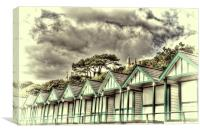 Langland Bay Beach Huts 3, Canvas Print