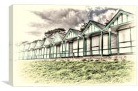 Langland Bay Beach Huts 4, Canvas Print