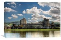 Caerphilly Castle 3, Canvas Print