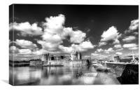 Caerphilly Castle 6 Monochrome, Canvas Print