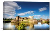 Caerphilly Castle 9, Canvas Print