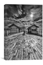 Penarth Pier 2 Monochrome, Canvas Print