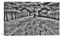 Penarth Pier 4 Monochrome, Canvas Print