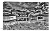 Penarth Pier 6 Monochrome, Canvas Print