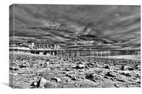 Penarth Pier 7 Monochrome, Canvas Print