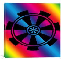 Digital Rainbow, Canvas Print