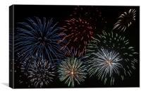 Fireworks Extravaganza 3, Canvas Print