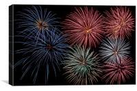 Fireworks Extravaganza 4, Canvas Print