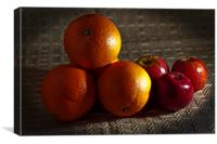 Oranges and Apples, Canvas Print