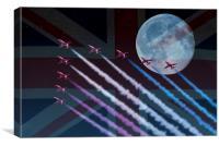 Night Flight Patriots, Canvas Print