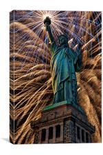 Liberty Fireworks, Canvas Print