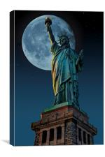Liberty Moon, Canvas Print