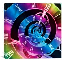 Infinite Time Rainbow 1, Canvas Print