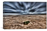 Freshwater West Drama, Canvas Print