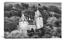 Castell Coch Mono, Canvas Print