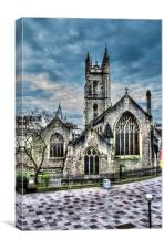 St John The Baptist Church Cardiff, Canvas Print