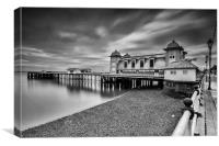 Penarth Pier 1 Mono, Canvas Print