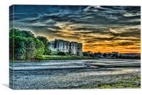 Carew Castle Sunset 4, Canvas Print
