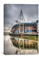 The Millennium Stadium Reflections, Canvas Print