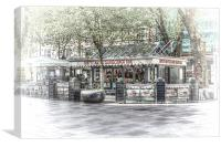 Hayes Island Snack Bar Cardiff 2, Canvas Print