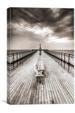 Penarth Pier 6 Black and White, Canvas Print