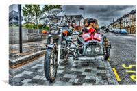 Ural Wolf 750 And Sidecar, Canvas Print