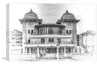 The Pavilion Penarth Pier Dreamy, Canvas Print