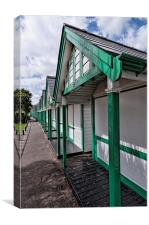Beach Huts Langland Bay Swansea 1, Canvas Print