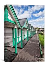 Beach Huts Langland Bay Swansea 2, Canvas Print